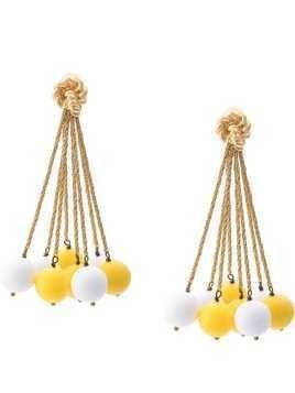 Aurelie Bidermann ball charm earrings - Yellow