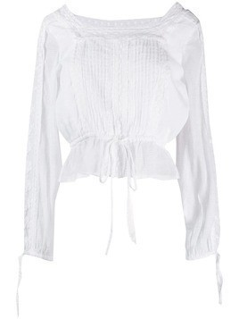 Love Shack Fancy embroidered Pippa blouse - White