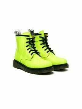 Gallucci Kids lace-up leather ankle boots - Green