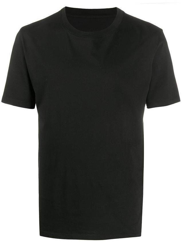 Maison Margiela logo-stitch detail T-shirt - Black