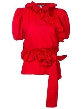 Alexa Chung ruffled wrap blouse - Red