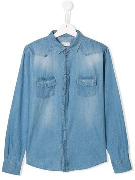 Paolo Pecora Kids TEEN denim shirt - Blue