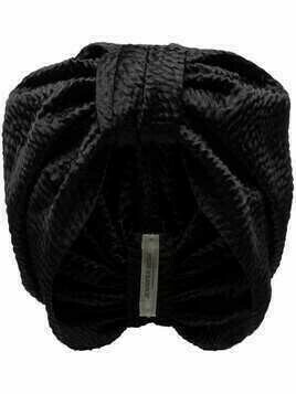 Jennifer Behr Etta knot detail turban - Black