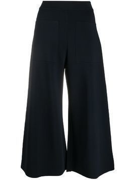 Stella McCartney wide-leg cropped trousers - Blue
