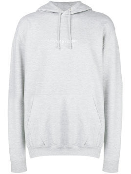 F.A.M.T. front script hoodie - Grey