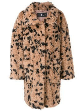 Luisa Cerano faux fur coat - Neutrals