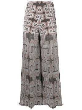 Circus Hotel jacquard palazzo trousers - Blue