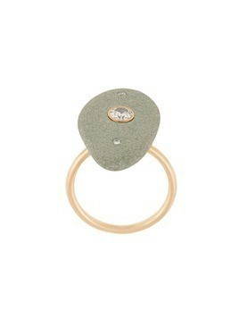 Cvc Stones 18kt yellow gold Aravalli pebble diamond ring - Multicolour