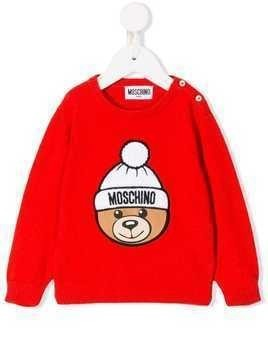 Moschino Kids embroidered logo jumper
