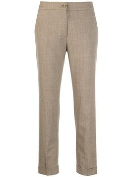 Etro cropped slim-fit trousers - Neutrals