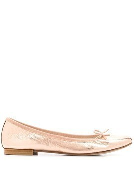 REPETTO Chio metallic ballerina shoes - Pink