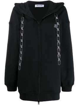 Brognano hanging chains hooded jacket - Black