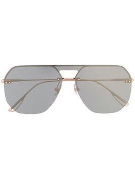Bolon oversized geometric frame sunglasses - Metallic