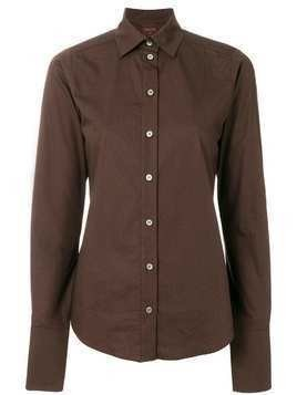 Romeo Gigli Pre-Owned classic slim fit shirt - Brown