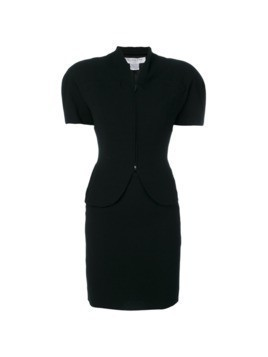 Christian Dior Vintage short sleeve skirt suit - Black
