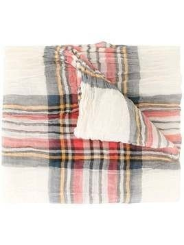 Forme D'expression Keith tartan scarf - Brown