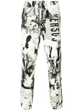 Versus - printed trousers - Herren - Cotton - M - White