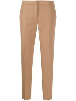 Ermanno Ermanno slim-fit cropped trousers - NEUTRALS