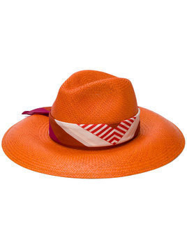 Borsalino Sophie hat - Yellow & Orange