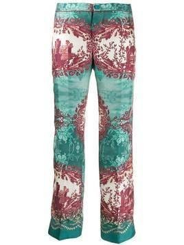 F.R.S For Restless Sleepers floral print cropped trousers - Green