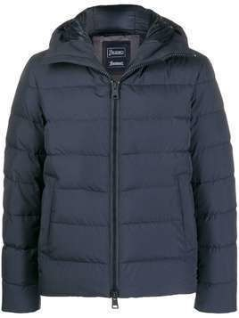 Herno short quilted zipped jacket - Blue