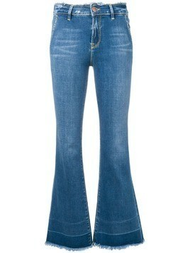 Don't Cry fringed bootcut jeans - Blue