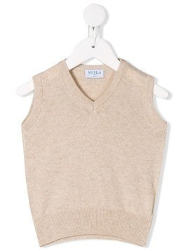 Siola knitted vest top - Neutrals