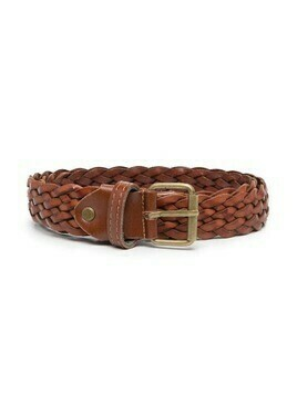Paolo Pecora Kids braided belt - Brown