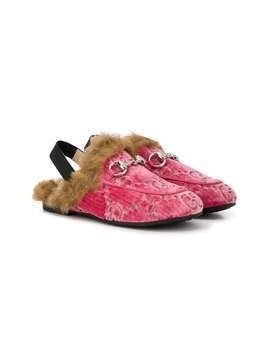 Gucci Kids monogram Horsebit loafers - PINK