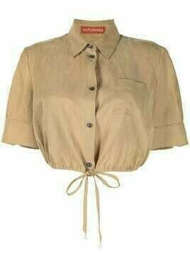 Altuzarra Ben cropped shirt - Brown