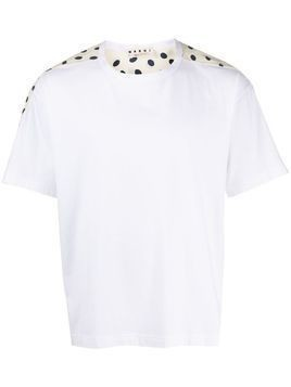 Marni print panel T-shirt - White