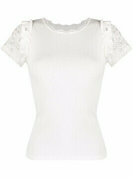 Viktor & Rolf ruffled-trim pyjama top - White