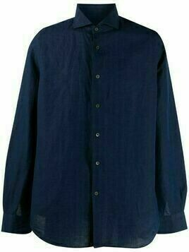 Corneliani linen-cotton blend shirt - Blue