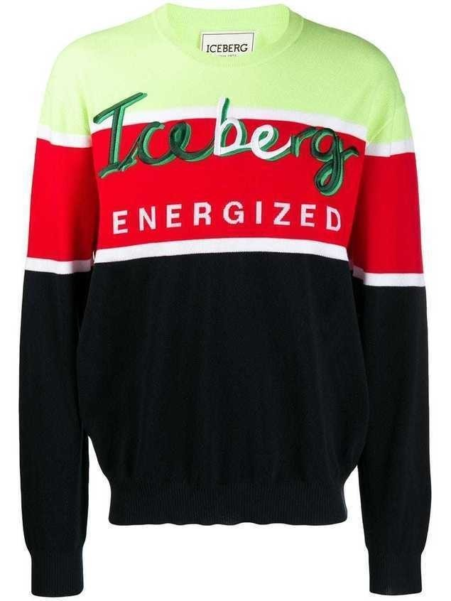 Iceberg logo embroidered sweater