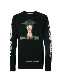 Off-White movie long sleeve T-shirt - Black