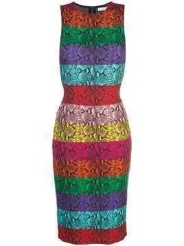 Alice+Olivia rainbow snake print dress - Multicolour