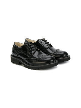Montelpare Tradition teen varnished oxford shoes - Black