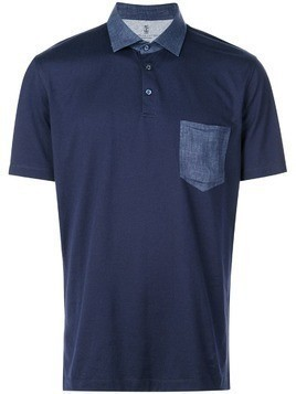 Brunello Cucinelli chest pocket polo shirt - Blue