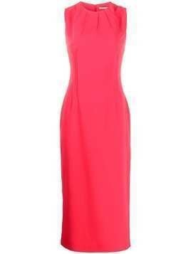 Emilia Wickstead Erlinda fitted dress - PINK