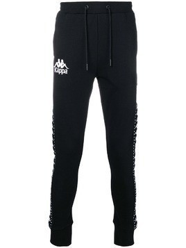 Kappa logo slim-fit track trousers - Black