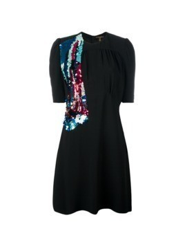 Louis Vuitton Vintage sequinned detail dress - Black