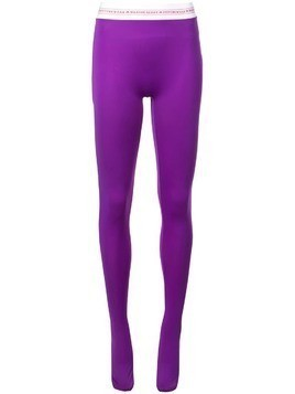 Marine Serre jersey leggings - Purple