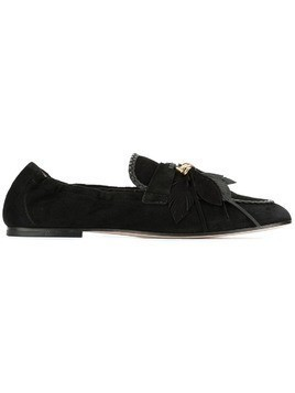 Tod's feather appliqué loafers - Black
