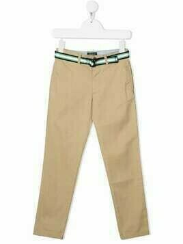Ralph Lauren Kids belted cotton chinos - Neutrals