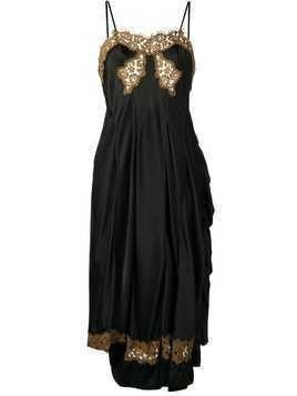 Giacobino low back lace slip dress - Black