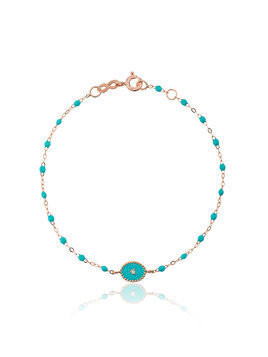 Gigi Clozeau turquoise blue madone diamond and rose gold bracelet