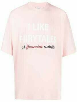 VETEMENTS slogan-print short-sleeved T-shirt - Pink