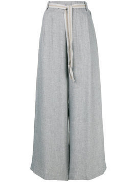 Phisique Du Role twill wide leg trousers - Grey