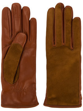 Lanvin contrast finish driving gloves - Brown