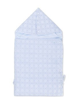 Baby Dior cannage embroidered blanket - Blue